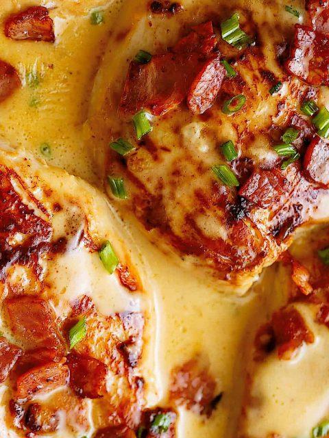 Honig-Senf-Hähnchen mit Bacon